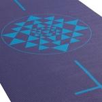 Podložka na jógu LEELA Dark Blue Yantra/Alignment