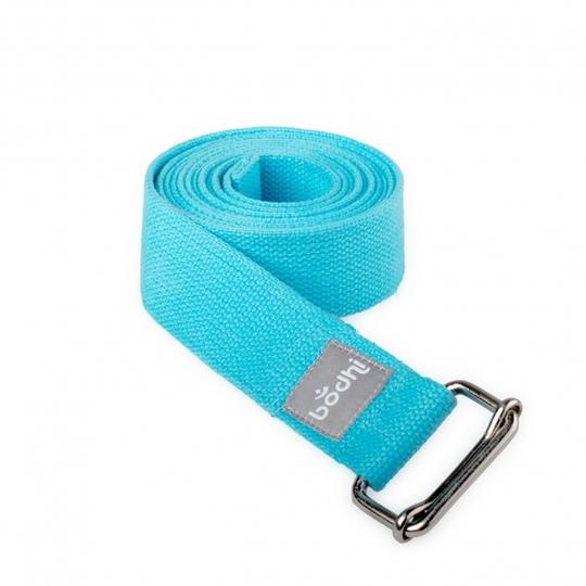 Přitahovací pásek s kovovou posuvnou sponou Aqua Light Blue