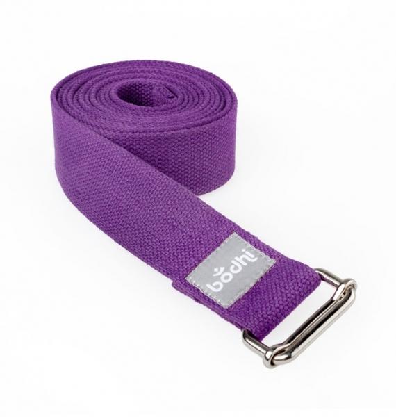 Přitahovací pásek s kovovou posuvnou sponou Purple